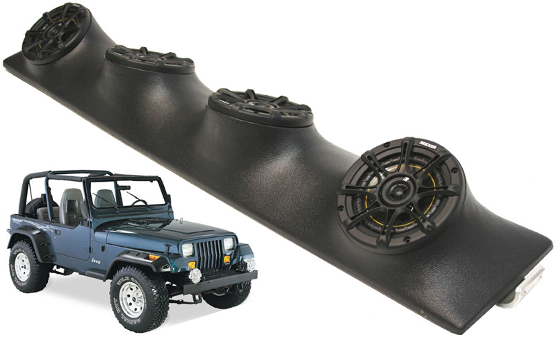 Jeep Wrangler Stereo System Jeep Wrangler Kicker DS525 Speakers Sound Bar System | eBay