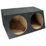 "Dual 12"" Sub Box Sealed Enclosure (Gray)"