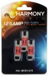 Harmony Audio HA-MIDI125 Stereo Fuseholder 3 Pack 125 Amp MIDI Fuses - Nickel Plated