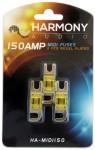 Harmony Audio HA-MIDI150 Stereo Fuseholder 3 Pack 150 Amp MIDI Fuses - Nickel Plated