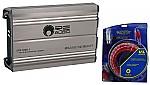 RE Audio DTS-1000.1 Car Stereo Class D Subwoofer 1600 Watt Amplifier & 4GA Amp Kit