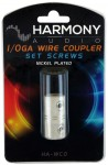 Harmony Audio HA-WC0 Stereo Power or Ground 1/0 Gauge Wire Splice Coupler - Nickel Plated