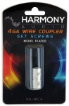 Harmony Audio HA-WC4 Stereo Power or Ground 4 Gauge Wire Splice Coupler - Nickel Plated